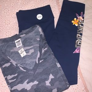 NWT VS PINK Cotton Bling Legging bundle